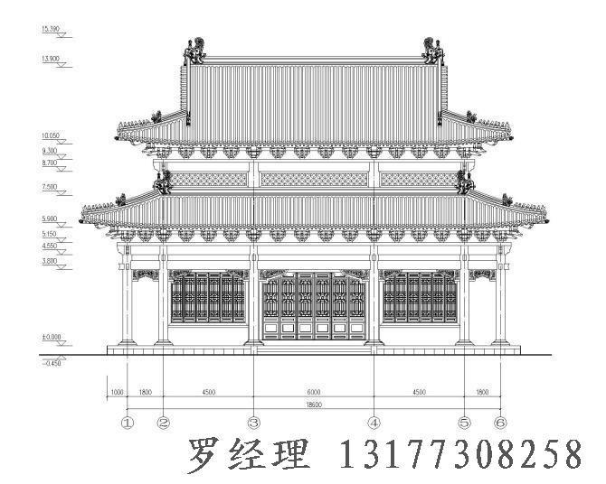 寺庙图纸寺院施工图设计