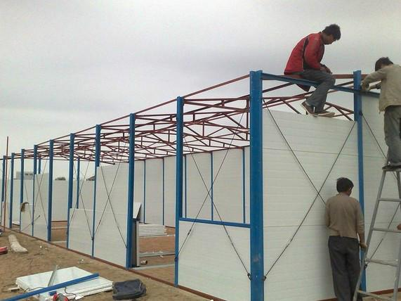 供应潍坊框架板房框架雅致活动房彩钢框架活动房
