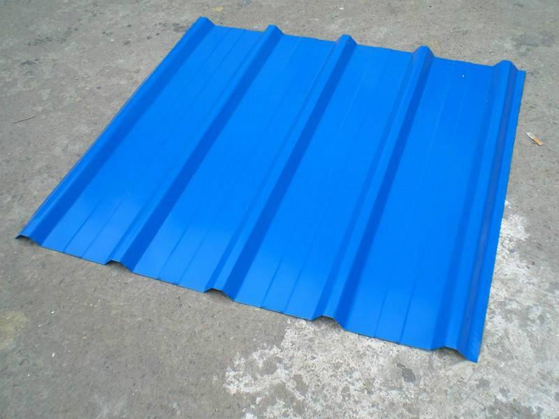 供应山东蓝色彩钢瓦加工厂家