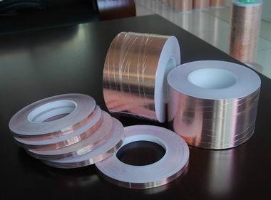 供应铜箔胶带,双导铜箔胶带,压花铜箔胶带,无基材导电双面胶带