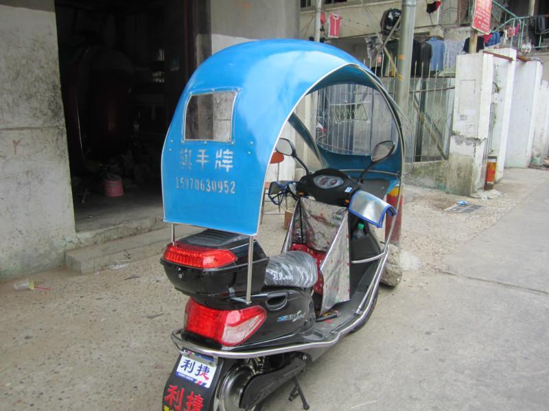 助力车-两轮电动车雨篷三轮电动车篷新展示图片