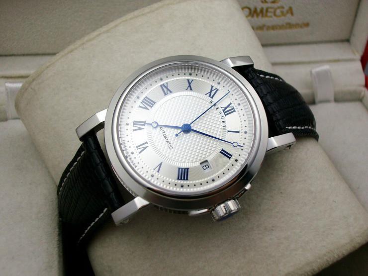 罗马 手表/供应宝玑白壳机械手表 宝玑手表男士手表 自动机械表 图片