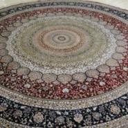 圆形手工真丝地毯图片