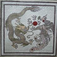 高档礼品手工编织丝毯图片