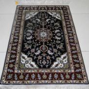 块毯手工真丝地毯天然手工编制图片