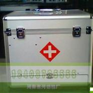 金属银高密度板白绒布内里医药箱图片