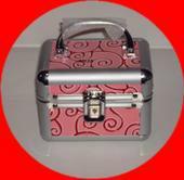 供应2013新款豹纹化妆箱工具箱铝合金箱批发