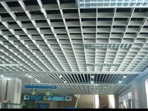 木纹铝制格栅天花板图片