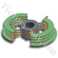 供应狭小的空间内传输3路360A滑环 盘式滑环导电滑环 精密盘式滑环 转台滑环  厂家热销 电气导电滑环 非标防水导电滑批发