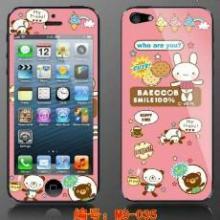 厂家批发iphone5手机卡通膜炫彩贴印刷膜彩印膜带防刮花批发