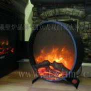 独立式双面壁炉伏羲火焰品牌图片