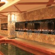 重庆饭店灯饰酒精壁炉火焰设计图片