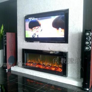 2米4电视柜壁炉FuSi品牌壁炉图片