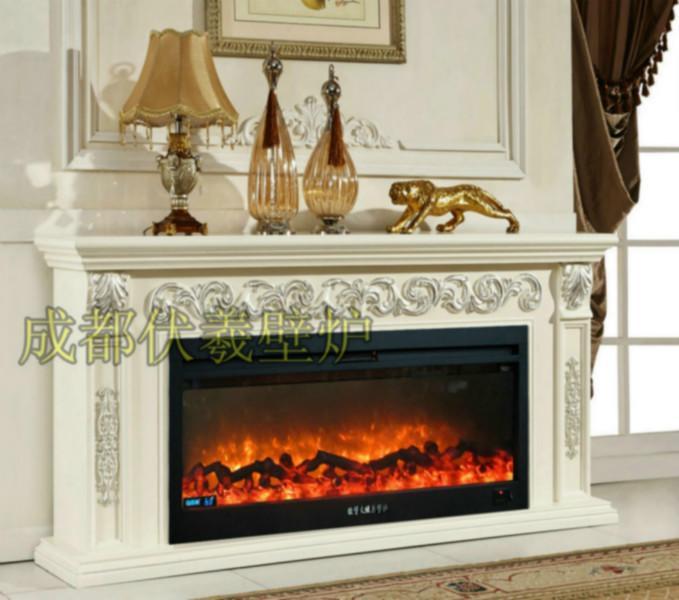 供应电视柜壁炉装饰;1800x780x380mm伏羲壁炉白色电视柜