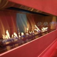 成都酒店装饰酒精壁炉景观图片