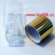 批发订做金色电化铝盖玻璃瓶管制瓶图片
