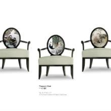 供应中式印花面料椅-新中式椅子图片