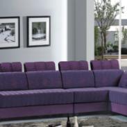 广州云欣家具厂订制对皮并布沙发图片