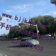高6米支臂16米多车道监控立杆图片