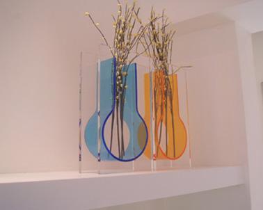 供应亚克力手工花瓶亚克力串珠塑料花瓶/亚克力花瓶/有机玻璃花瓶