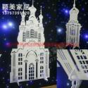 PVC优质婚庆道具橱窗摆件雕刻城堡图片