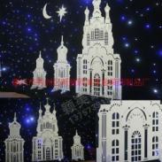 PVC婚庆具橱窗摆件雕花城堡图片
