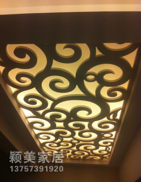 供应PVC雕花板吊顶隔断背景墙祥云花型,隔断背景墙祥云花型批发价