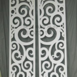 Y17/雕花板PVC镂空板隔断图片