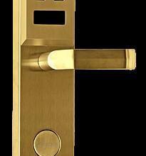供应广西南宁便宜低端IC刷卡宾馆一体锁金色款质量稳定无需拉线供电批发