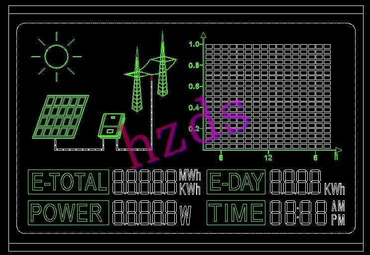 供应太阳能转换电能液晶显示屏图片