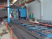 供应冷拉圆钢表面抛丸除锈、清除氧化皮设备,冷拉圆钢表面喷丸打砂除锈机图片