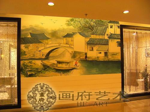 现代装修墙绘绘制图片画府艺术墙绘 上饶墙绘