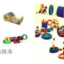 供应感统训练器材彩色接龙软体益智玩具图片