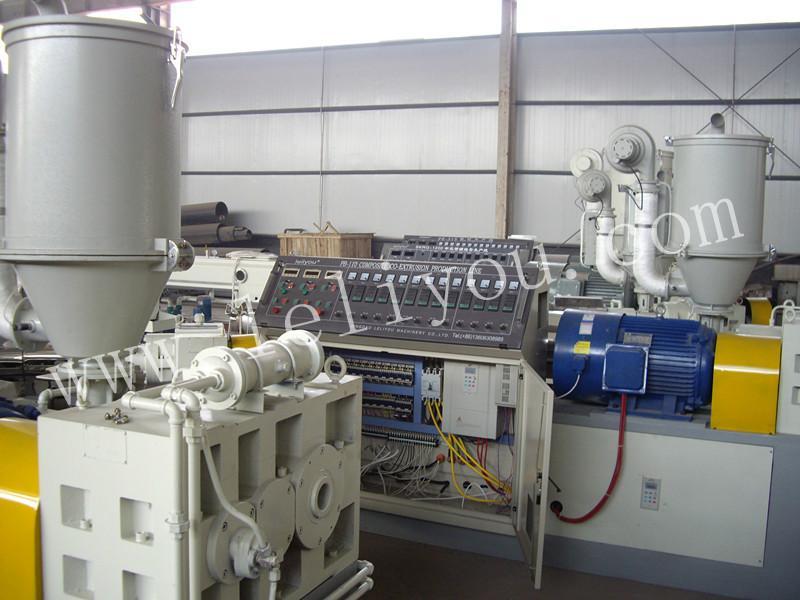 供应塑料高产量硅芯管材生产线 hdpe高速挤出硅芯管设备生产机组