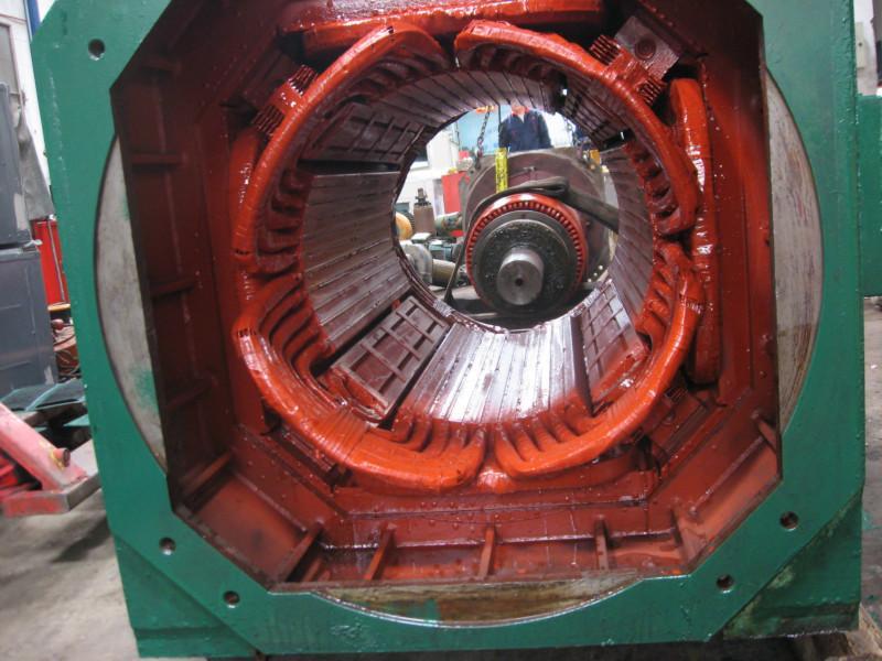 电机定子绕组图片