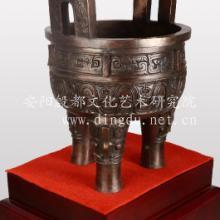 仿古青铜器风水摆件孔雀瓶