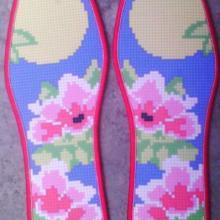 供应新品十字绣鞋垫半成品