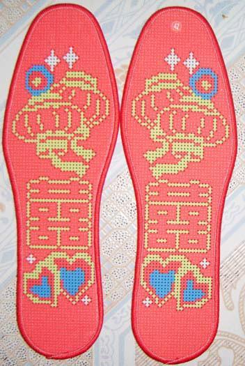 十字绣鞋垫 十字绣鞋垫供货商 供应精准印花十字绣鞋垫 新款产品 纯棉
