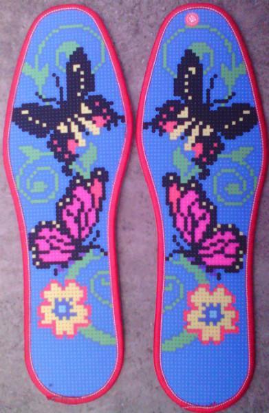 十字绣鞋垫供货商 供应精准印花十字绣鞋垫 新款产品 纯棉精品品质