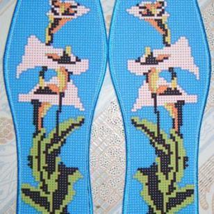 精准印花十字绣鞋垫图片
