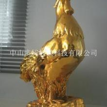 供应电镀金色雄鸡树脂玻璃钢摆设工艺品/电镀树脂工艺品图片