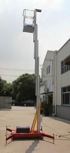 供应单柱铝合金升降机升高10米