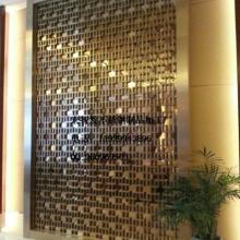 供应现代豪华酒店风格不锈钢固定屏风/玫瑰金玄关隔断不锈钢屏风图片