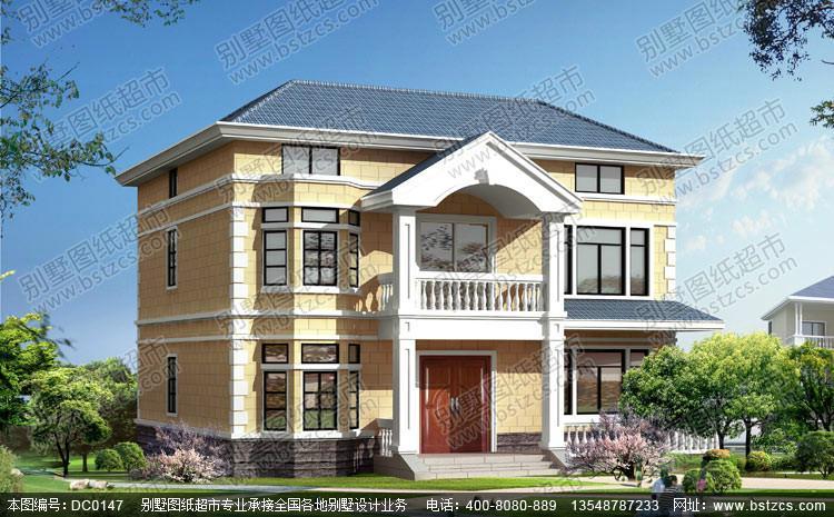 两层效_四间两层楼房设计图_两层别墅外观效果图_两层15万别墅设计图图片