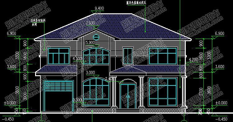 农村二层别墅图纸大全 二层别墅设计图纸大全 二层半别墅图纸大全图片