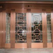 山西晋城紫铜门黄铜门旋转门厂家图片